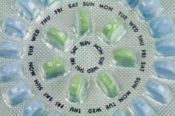 A packet of birth control pills