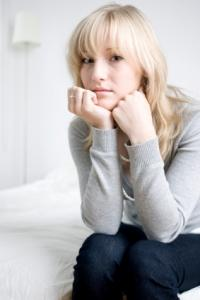 A woman worrying about infertility issues