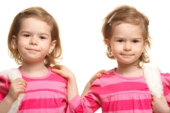 Photo of twin girls