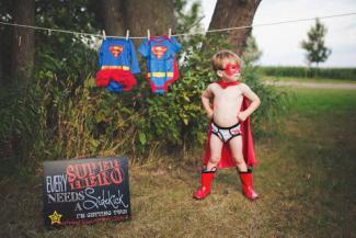 Superhero Sidekick Pregnancy Announcement