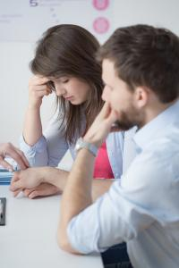 couple at infertility doctor