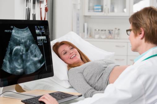 doctor giving ultrasound