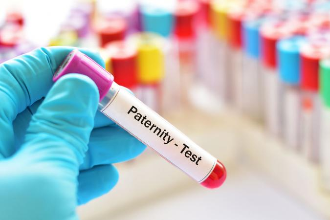 Blood sample for paternity test