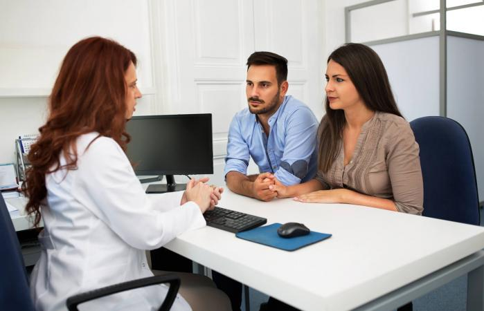 Couple in a Fertility Clinic