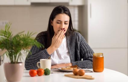 Young woman feeling nausea