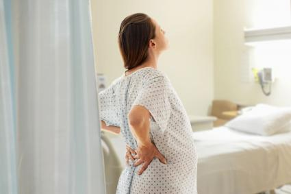 Pregnant woman at the hospital