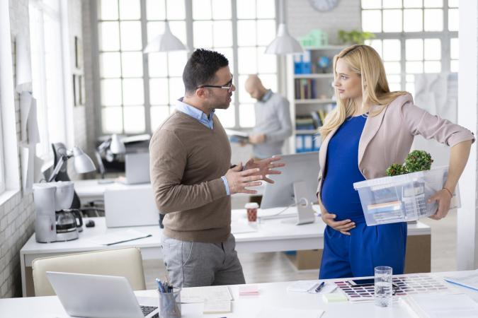 Pregnant woman at work