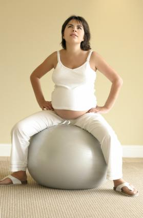 pregnancy exercise ball pilates yoga