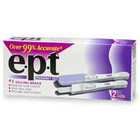 Image of an e.p.t. brand pregnancy test
