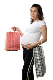 Shopping for maternity clothes