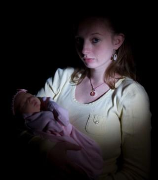 Some pregnant teens are abandoned by their parents.