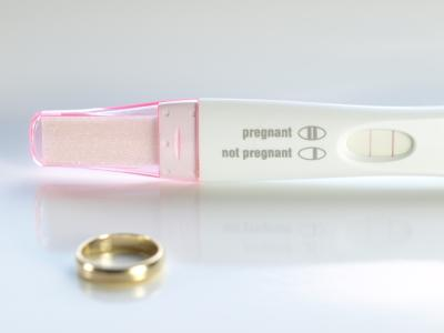 Positive result on pregnancy test