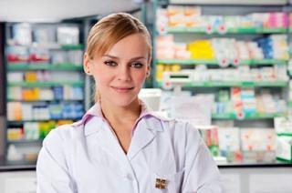 Female pharmacist in the pharmacy