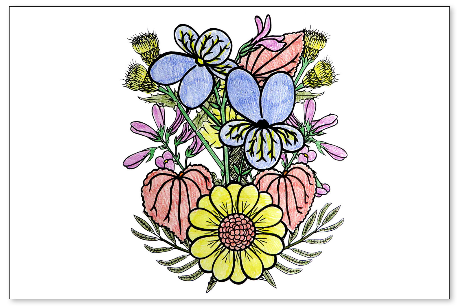 Spring Flowers Coloring Pages Lovetoknow