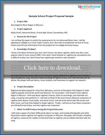 School Project Proposal Sample