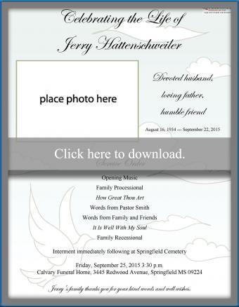 printable funeral program
