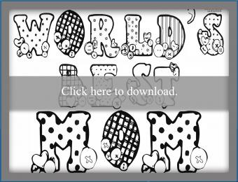 best mom button coloring page