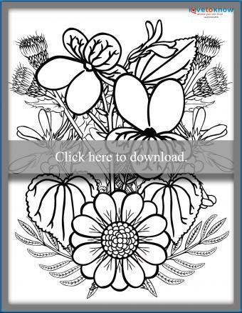 iris and daisy sheet