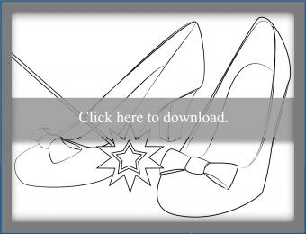 Ruby Red Slipper Coloring Page