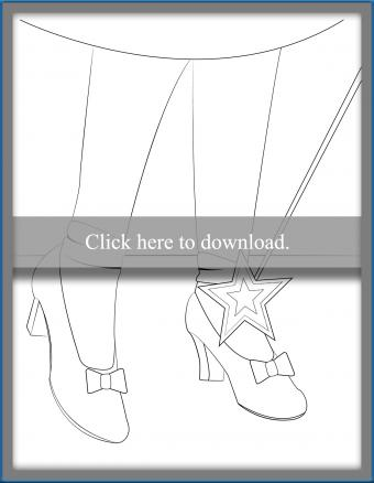 Red Ruby Slipper Coloring Page