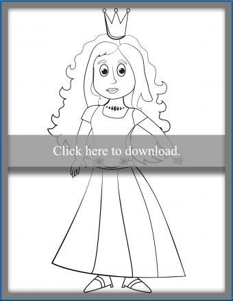 Princess Character Coloring Page