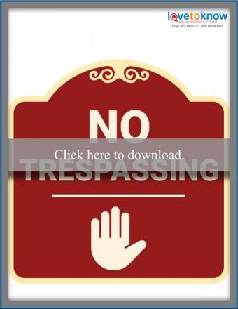 Stop No Trespassing Sign