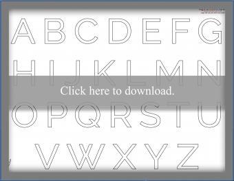 Basic Block Letter Template
