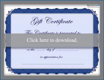 ree gift certificate template