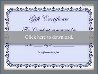 Free blue certificate template