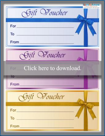 Gift Certificate Voucher Template with Bow