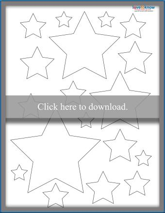 Assorted 5-Point Star Templates