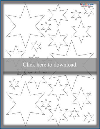 Blank 6-Point Stars