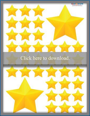 Yellow 5-Point Stars