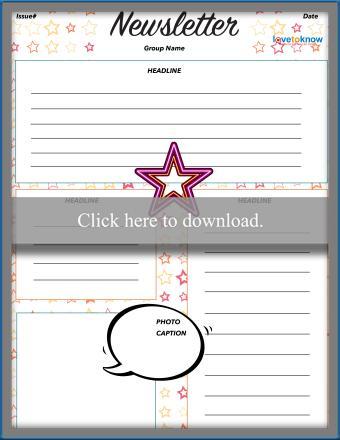 Elementary Star Newsletter Template