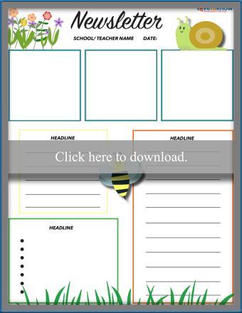 Preschool Garden Newsletter Template