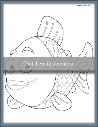 Rainbow Fish Template 1