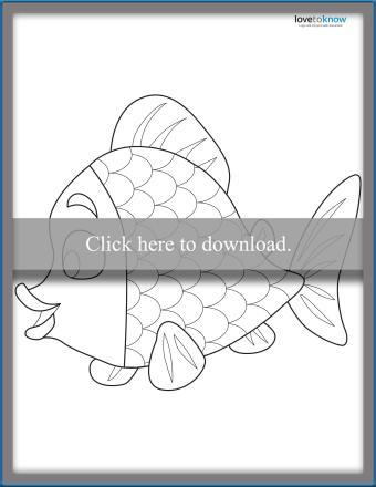 Rainbow Fish Template 2