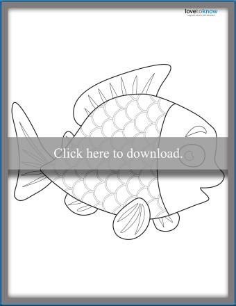 Rainbow Fish Template 3