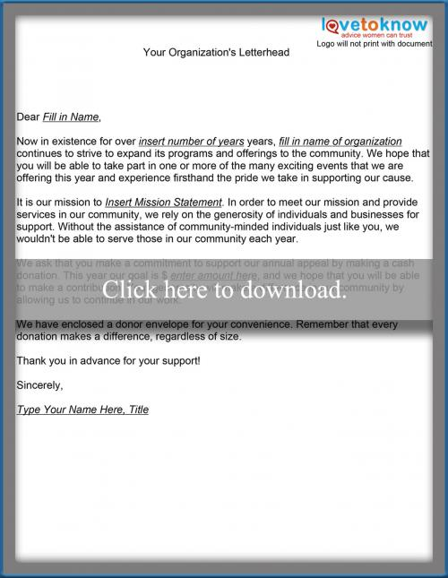 Annual Fund Letter template