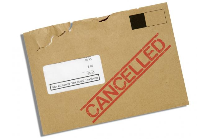cancelled envelope