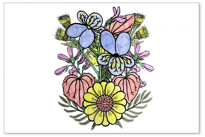 Spring flowers coloring pages pretty spring flowers mightylinksfo