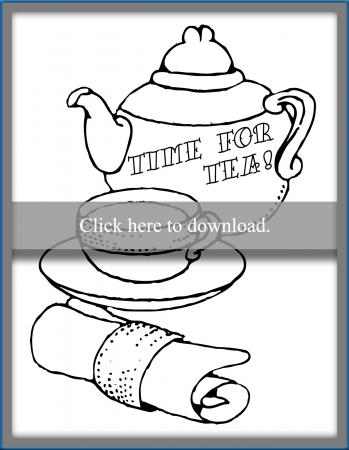 Time For Tea Coloring Page