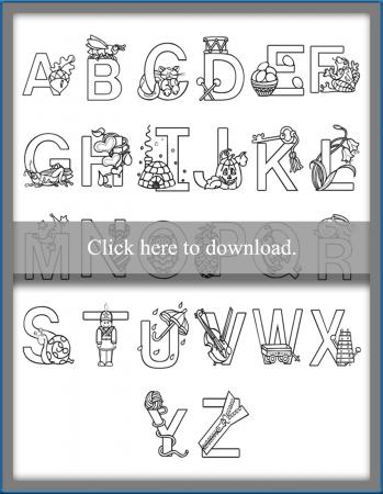 All Letters Coloring Pages