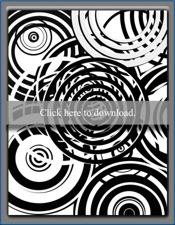 Trippy Circles Coloring Page