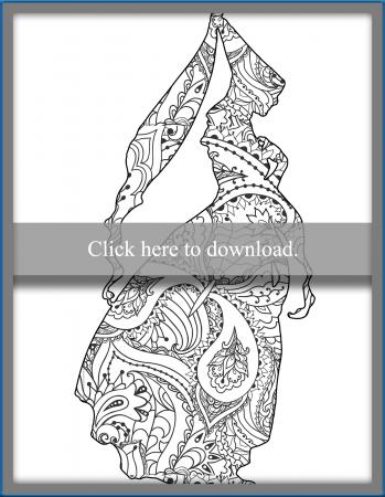 Princess Silhouette Coloring Page