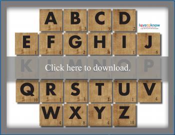 Scrabble Block Letter Template