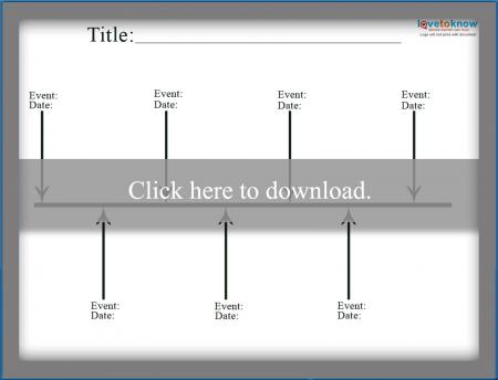 Free Simple Timeline Template | LoveToKnow