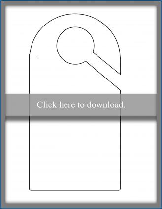 graphic regarding Printable Door Hanger referred to as Printable Doorway Hanger Template LoveToKnow