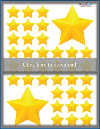 Yellow 5-Point Stars