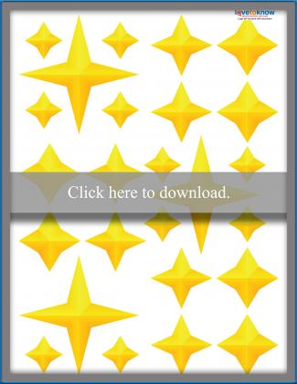 Yellow 4-Point Stars